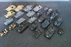 My entire kit collection of Brickmania/Brick Battalions kits. (The Desert Rat) Tags: lego wwii tanks brickmania brickbattalions