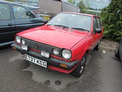 1987 VOLKSWAGEN POLO CL (Yugo Lada) Tags: auto old red car volkswagen nice italian italia day 1987 parked polo rare cl 2012 e737keg