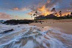 Kiahuna Sunset (Willie Huang Photo) Tags: sunset seascape beach nature landscape island hawaii sand paradise waves pacific scenic kauai poipu kiahuna kiahunabeach