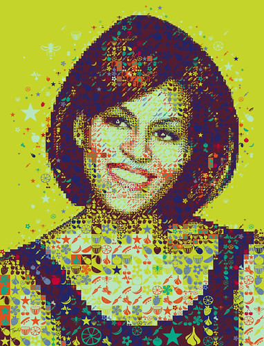 A colorful Michelle Obama for Hemispheres magazine / Charis Tsevis