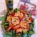 Salmon Arugula Salad, Low Carb, Balsamic