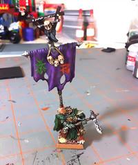 Battle Standard Bearer (benjibot) Tags: warhammer chieftain skaven battlestandardbearer adobephotoshopexpress