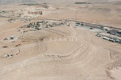 Zarqa Cairn 11; Zarqa Pendant 1 (APAAME) Tags: aerialarchaeology aerialphotography middleeast airphoto archaeology ancienthistory