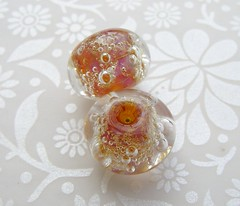 Clio Bubbles (Glittering Prize - Trudi) Tags: glass beads duo pair clio donuts bubble lampwork artisan