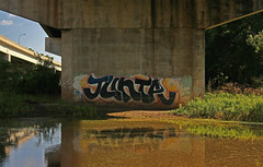Junta (The Braindead) Tags: street art minnesota wall train bench photography graffiti interesting paint flickr painted tracks minneapolis twin rail explore most abandon beyond junta gp the braindead cites flickrs thebraindead