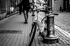 Old Bike (AlanScerbakov) Tags: street old bw white black bike photography nikon n 1855mm lithuania vilnius d3100 alanscerbakov