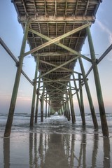 Yaupon Pier (Brian Utesch (shutterBRI)) Tags: ocean wood travel usa reflection water america canon reflections pier vanishingpoint wooden nc fishing perspective northcarolina atlantic american carolina 2012 fishingpier oakisland carolinas yaupon shutterbri brianutesch yauponpier