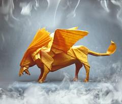 Winged lion (Sunny Marmalade) Tags: by origami lion folded winged keiichi kozasa kunsulu