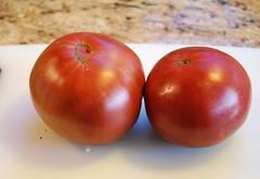 This season's First Tomatoes-Black Krim (salabat) Tags: california fruit garden tomato gardening tomatoes vegetable heirloomtomato