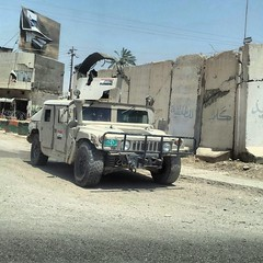 (ALSME) Tags: street sky war day military iraq hummer iraqwar