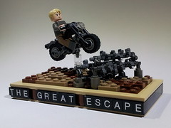 The great escape (Project Azazel) Tags: google lego pa motorbike ww2 ba custom stevemcqueen thegreatescape wwll googleimages brickarms legoww2 legomotorbike projectazazel wwlllego famousscenesinlego moviescenesinlego