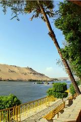 Kitchener's Island (MikePScott) Tags: camera trees plants monument river desert egypt nile aswan waterway topography builtenvironment panasonicdmcfz30 featureslandmarks qismaswan