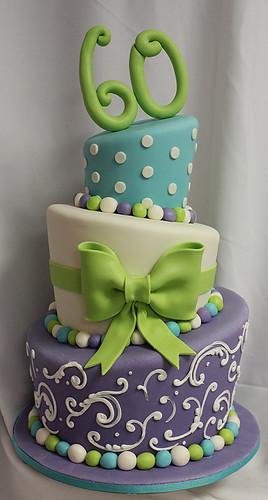 Topsy Turvy 60 cake