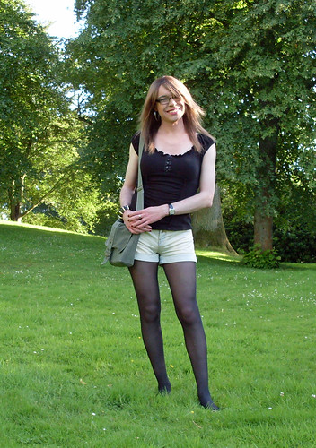 British software pantyhose play