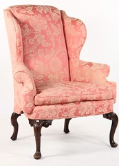 66. Upholstered Wing Chair