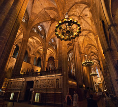 Cathedral interior (Sven Rudolf Jan) Tags: barcelona spain cathedral wideangle espana nave cataluna sigma1020mmdchsm catedraldelasantacreuisantaeullia