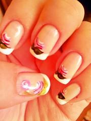 Francesinha + Flores (KellyD.) Tags: flores art branco nail decoração flo unha francesinha