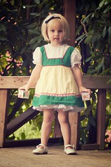 vintage 15 (pixidance) Tags: girl hat vintage village dress bob blond blonde blocks merrygoround headband cutetoddler
