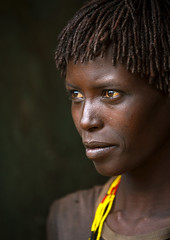 Miss Kale, Bana tribe, Key Afer, Omo Valley, Ethiopia (Eric Lafforgue) Tags: africa portrait people color vertical outside outdoors photography day culture tribal beautifulwoman omovalley tradition ethiopia tribe ethnic beautifulpeople tribo lookingaway hornofafrica ethnology headandshoulders omo eastafrica thiopien etiopia onepersononly ethiopie realpeople etiopa colorimage darkbackground lookingatcamera waistup  keyafer etiopija africanethnicity pastoralist ethiopi  etiopien etipia 0271  etiyopya  snnpr      oneadult    southernnationsnationalitiesandpeoplesregion ethiopianethnicity