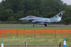 Eurofighter. (aitch tee) Tags: aircraft eurofighter arrivals luftwaffe royalinternationalairtattoo germanairforce raffairford 3029 specialscheme riat2016 thursday7july2016