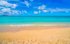 Best Beach in the World (meeyak) Tags: travel blue summer vacation hot beach water beautiful clouds fun island hawaii sand nikon aqua warm paradise cloudy oahu jetski kailua lanikai d800 lanikaibeach meeyak