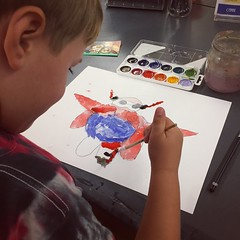 (Ryan Dickey) Tags: age5 paintbrush robot watercolor painting bighero6 milwaukeeartmuseum michael