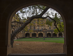 wet and cold day (Greg Rohan) Tags: 2016 d7200 archway photography outdoors sydney universityofsydney university arch architecture