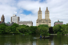 Rowing boats in Central Park (Gregor  Samsa) Tags: park new york city nyc newyorkcity trip usa lake newyork boats boat town spring centralpark central may row rowing settlement