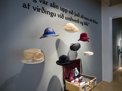 Display of former president's hats, municipal museum