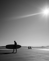 From the Sea (Tim Roper) Tags: morning beach water ocean sun paddle board silhouette sand