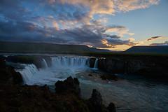 Gafoss (paolo-p) Tags: acqua water cascate waterfalls islanda iceland gafoss nuvole clouds tramonti sunsets