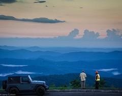 "Where Strangers Say ""Hello"" (Jerry Cotten) Tags: blue sky roads cars men northcarolina blueridgeparkway mountains clouds portraits jerrycotten thunderhilloverlook wataugacounty blowingrock"
