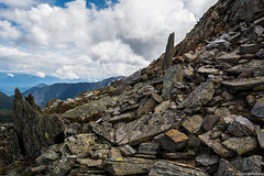 The Trail to Boulder Peak (thecobra2010) Tags: twinlakes cherryville vernon canada britishcolumbia bc okanagan hike hiking trek trekking rocks scramble mountain clouds sky blue sharp scenery scenic landscape