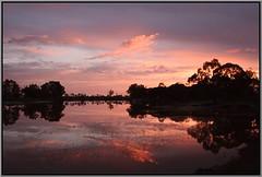 River Colours (florahaggis) Tags: horsham victoria australia pc3400 wimmerariver cloudsstormssunsetssunrises sky colours reflections water river trees canon