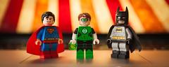 I'm back! (Jonathan Wong Photography) Tags: lego dc comics superheroes custom figures purist superman green lantern batman retro classic
