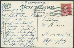 Archiv G674 Poststempel Cincinnati, Ohio, USA, Postkarte (back) vom 18. Februar 1924 (Hans-Michael Tappen) Tags: archivhansmichaeltappen usa poststempel cincinatti ohio briefmarke stamps text schrift postcard postkarte 1924 1920er 1920s