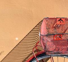 Bike Basket (svenwerk) Tags: bike bicycle fahrrad schatten shadow muster yellow red abstract abstrakt