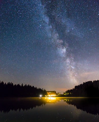 Pitch Black Forest - Mummelsee, Germany (Eric Steinbrcker) Tags: canon sony alpha 7 r ilce7r ilce7 deutschland germany baden wrttemberg nordschwarzwald northern black forest mummelsee milky way milchstrase milchstrasse ef 1635mm f4l is usm