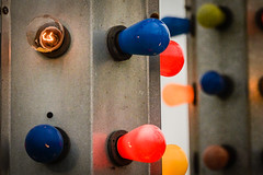 Lights Out (trs125) Tags: amusementride bulbs colorful color broken burntout shine glow sliderssunday carnival nikon nikond7100 lights