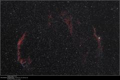 20160822_Veil Nebula (Clapiotte_Astro) Tags: astronomy astronomie astrotech66ed stars vende canon450d clsfilter cygnus cygne dentelles ngc 6960 6992 6995 veil nebula nbuleuse nuit night