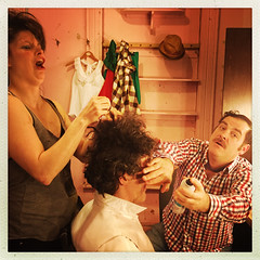 Les Clowns Backstage - Cafe Cleopatre (MontrealClownFest) Tags: clowns montreal mtlclownfest festival people portraits makeup backstage costumes theater acting candid