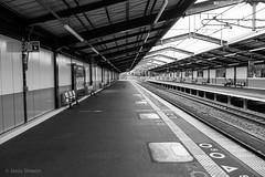 Almost (Jess Simen) Tags: japn osaka railway almost streetphotography blackandwhite blackwhite monochrome noire station urban urbanscape