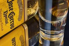 Tequila Shot (ertolima) Tags: macro mondays macromondays hmm mirror inthemirror tequila alcohol shot glass reflection
