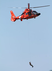 Lifting (blazer8696) Tags: 2016 ecw kswf ny newwindsor newyork swf stewart stewartterrace t2016 usa unitedstates air airshow show 6534 atlantic city coast dolphin eurocopter guard helicopter hh65 img2156 uscg