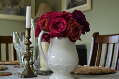 home... (lesya2014) Tags: kitchentable myroses homegrown