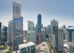 unfamiliar familiarity (draken413o) Tags: singapore ocbc centre cityscapes skyline skyscrapers aerial scenes urban places architecture views glass day canon tilt shift 17mm buildings asia travel destinations wow heights