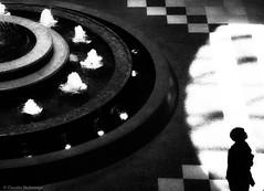 A mere fountain ... / Una simple fuente ... (Claudio.Ar) Tags: light bw water fountain argentina mall shopping women topf75 shadows sony bn human dsc h9 galeríaspacífico buenoasaires claudioar claudiomufarrege rememberthatmomentlevel1