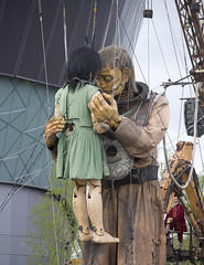 Little Girl Giant & Uncle Reunited (Terry Moran Photography) Tags: street sea england sky cloud reunion girl festival liverpool docks giant spectacular de 50mm dock nikon little anniversary uncle albert echo royal puppets letter giants diver iceberg 300 nikkor 18 55 odyssey titanic luxe jeanluc mersey albery merseyside xolo courcoult d3100