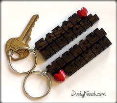 Ebony Love Keychains (DustyNewt Scott) Tags: wood love pull wooden keychain keyring key heart handmade name tag couples charm lovers ring chain exotic zipper accessories etsy custom promotional favor fundraiser ebony woodworking wholesale personalized fob artfire gaboon dustynewt zibbet