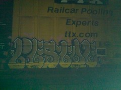 pestoe (RealestForreal) Tags: train graffiti trains boxcar freight boxcars freights tbox ttx rbox fr8 railbox graffititrain omt hlk pestoe graffitifreight